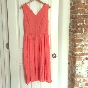 ModCloth Coral Cotton Dress